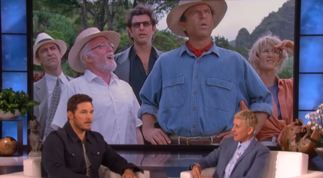 Chris Pratt talks original Jurassic Park cast returning in Jurassic World 3 on Ellen!