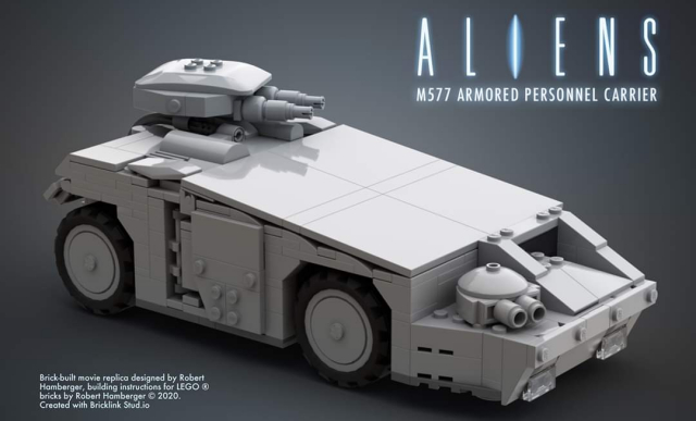 Learn to build this LEGO APC vehicle from Aliens online!