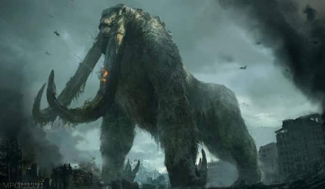 Official concept art of Godzilla 2 Titanus Behemoth (Giant Mammoth)