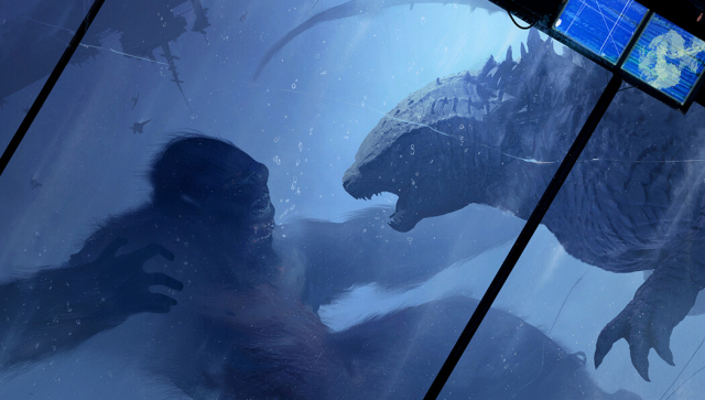 Official Godzilla vs. Kong concept art hits the web!