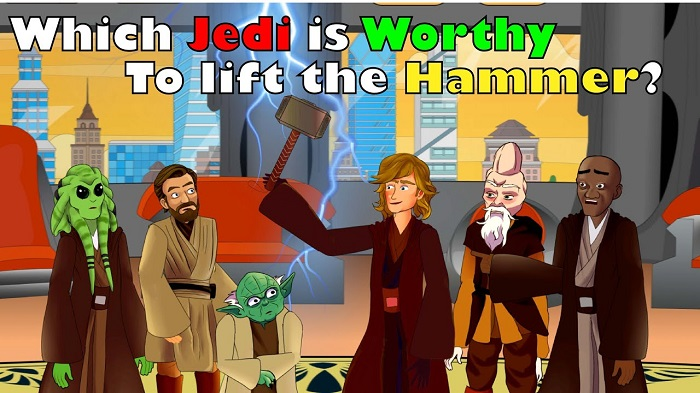 The Jedi council lift Thor's hammer!!! Is Anakin really worthy to be the chosen one? FILM PARODY